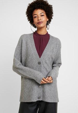 Strickjacke - gunmetal