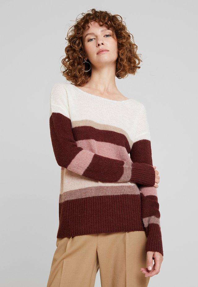 COLBLOC - Stickad tröja - mauve