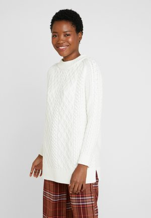 CABLE SWEATER - Sweter - off white