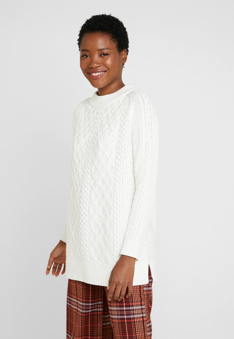 Esprit - CABLE SWEATER - Sweter - off white