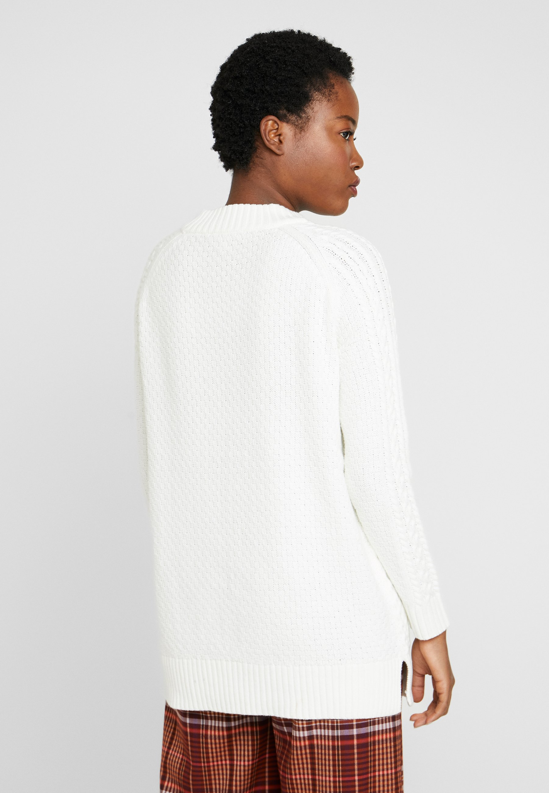 Esprit CABLE SWEATER - Sweter - off white