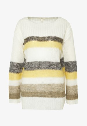STRIPED - Trui - dusty yellow