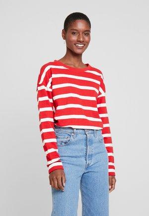 STRIPE - Pullover - dark red