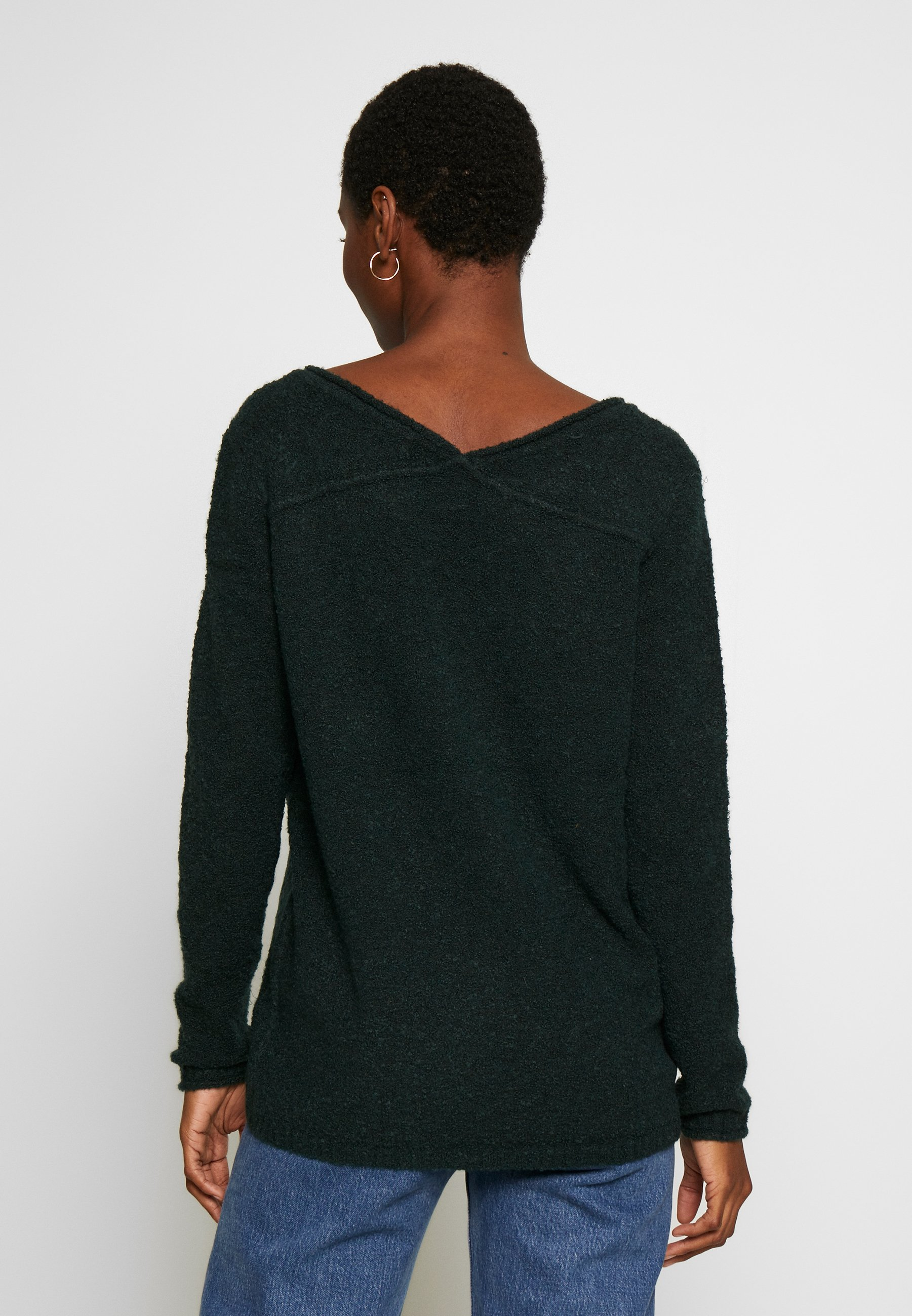 Esprit Sweter - dark teal green