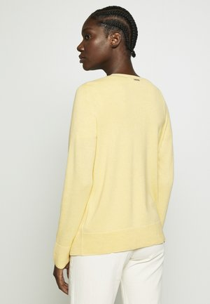 Strickjacke - dusty yellow