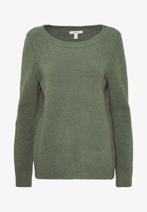 SLUBSEAMING - Strikkegenser - khaki green