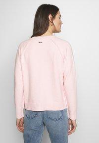 Esprit - SLUBSEAMING - Cardigan - light pink - 2