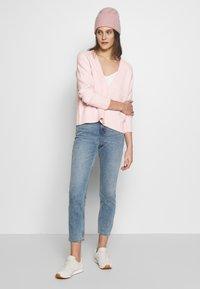 Esprit - SLUBSEAMING - Cardigan - light pink - 1