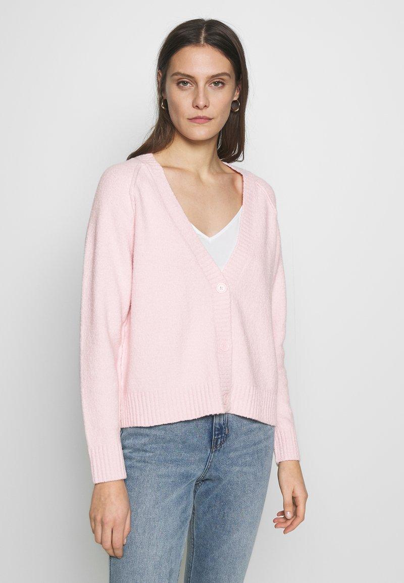 Esprit - SLUBSEAMING - Cardigan - light pink