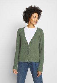 Esprit - SLUBSEAMING - Cardigan - khaki green - 0