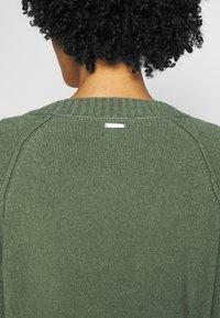 Esprit - SLUBSEAMING - Cardigan - khaki green - 3