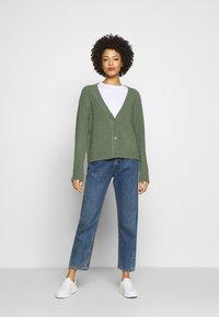 Esprit - SLUBSEAMING - Cardigan - khaki green - 1