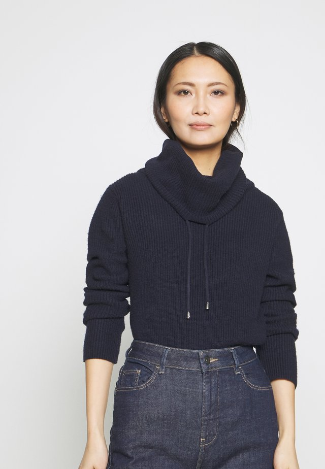 SPORTY NECK  - Jumper - navy