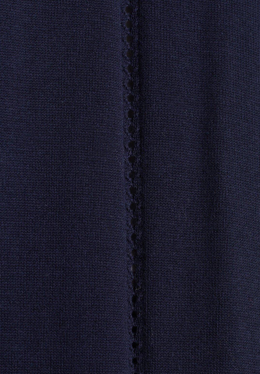 Esprit Mit Lochmuster-details - Strikjakke /cardigans Navy