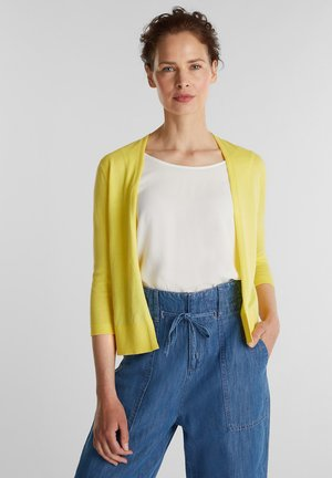 OFFENER - Cardigan - bright yellow