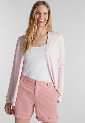 MIT AJOUR-MUSTER - Cardigan - light pink