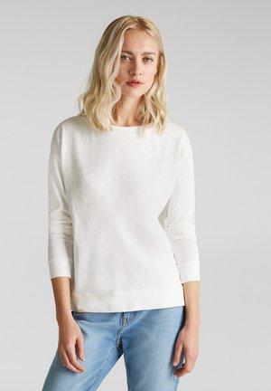 MIT STREIFEN-TAPES 100% BAUMWOLLE - Sweatshirt - off-white