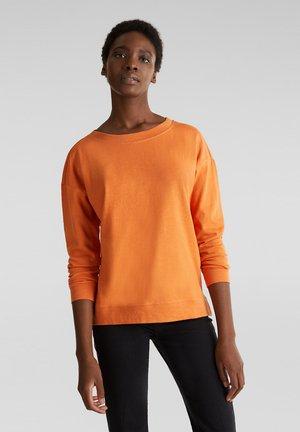 MIT STREIFEN-TAPES 100% BAUMWOLLE - Sweater - rust orange