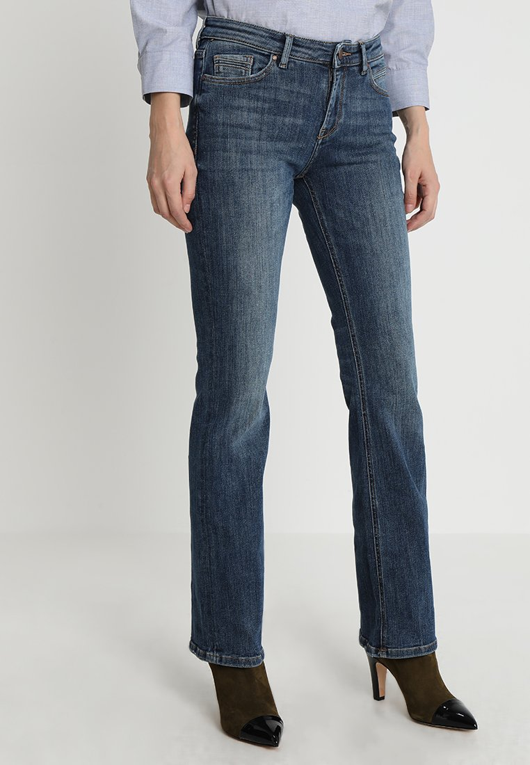 Esprit - Jeans Bootcut - blue dark wash