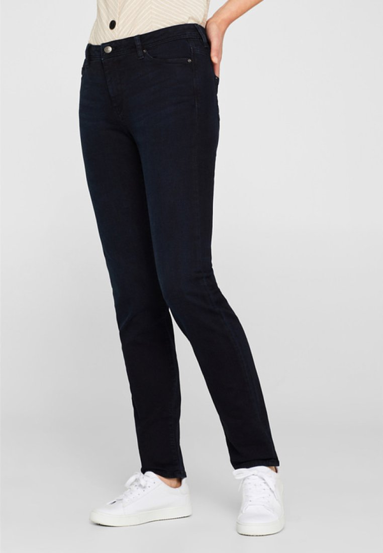 Esprit - MIT ORGANIC COTTON - Jeans Bootcut - blue rinse