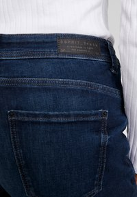 Esprit - STRAIGHT - Jeansy Slim Fit - blue dark wash - 5