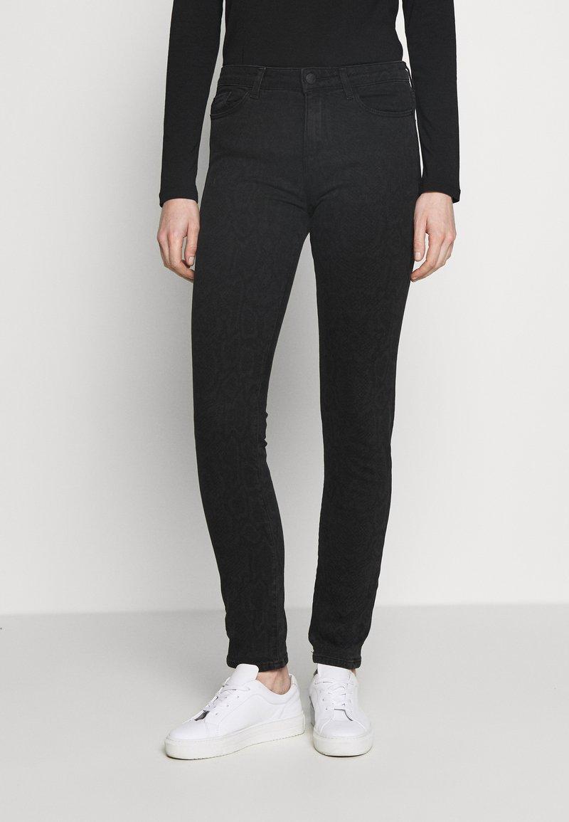 Esprit - Slim fit jeans - black dark wash