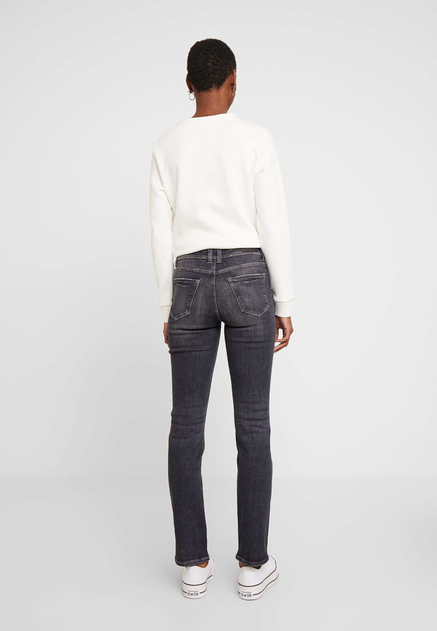 Esprit Jeansy Straight Leg - black denim
