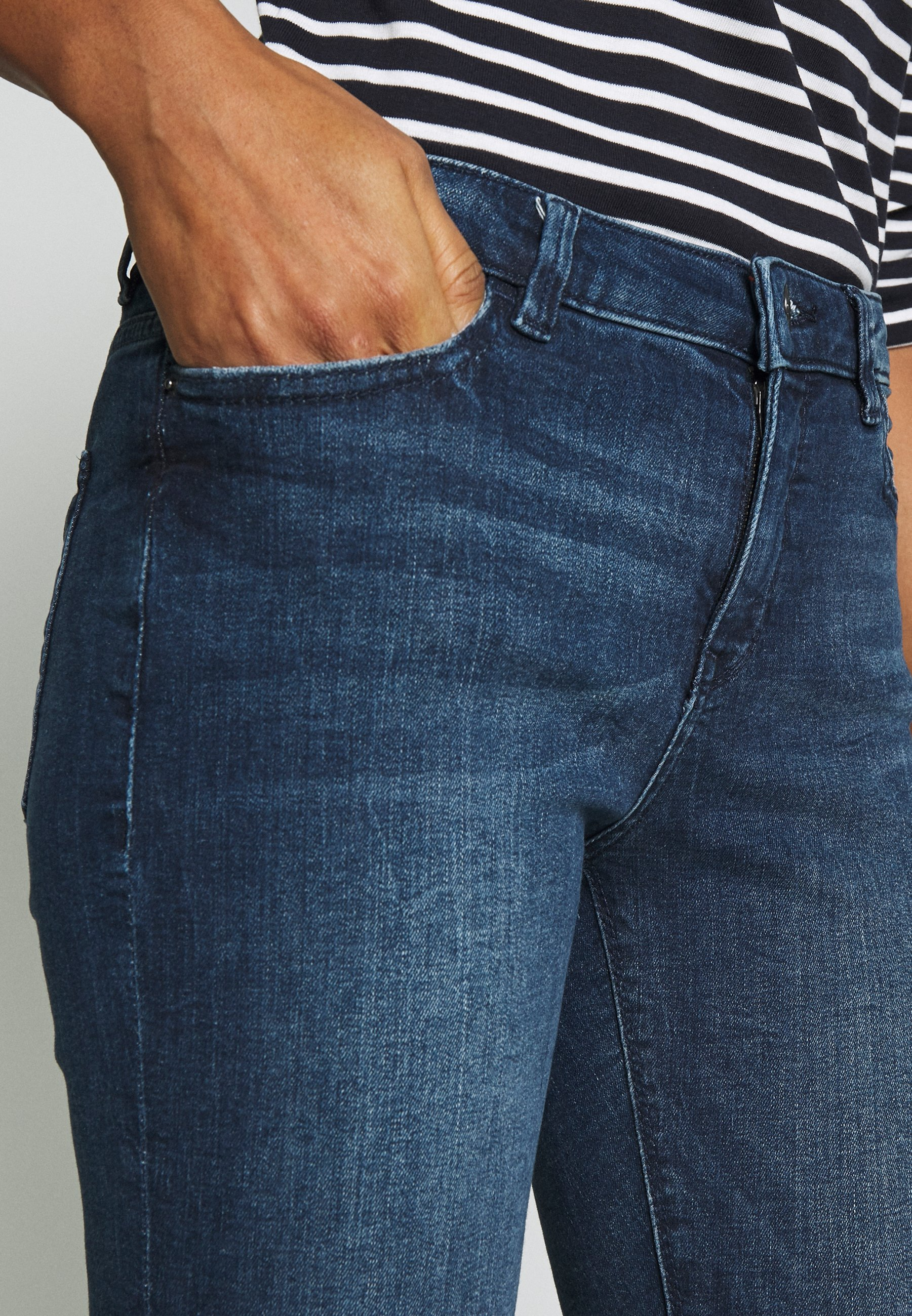 Esprit Jeansy Skinny Fit - blue dark wash