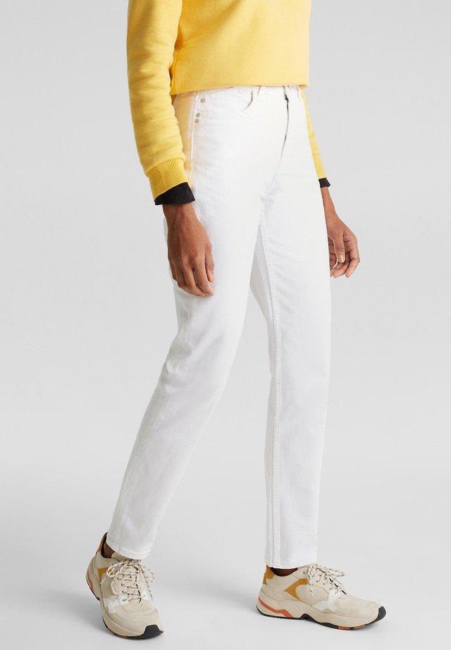 MIT HOHEM BUND - Slim fit jeans - white