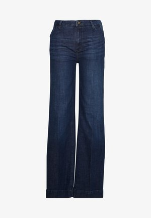 WIDE LEG - Relaxed fit jeans - blue dark wash