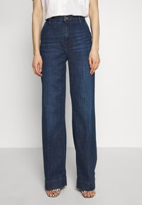 Esprit - WIDE LEG - Relaxed fit jeans - blue dark wash - 0