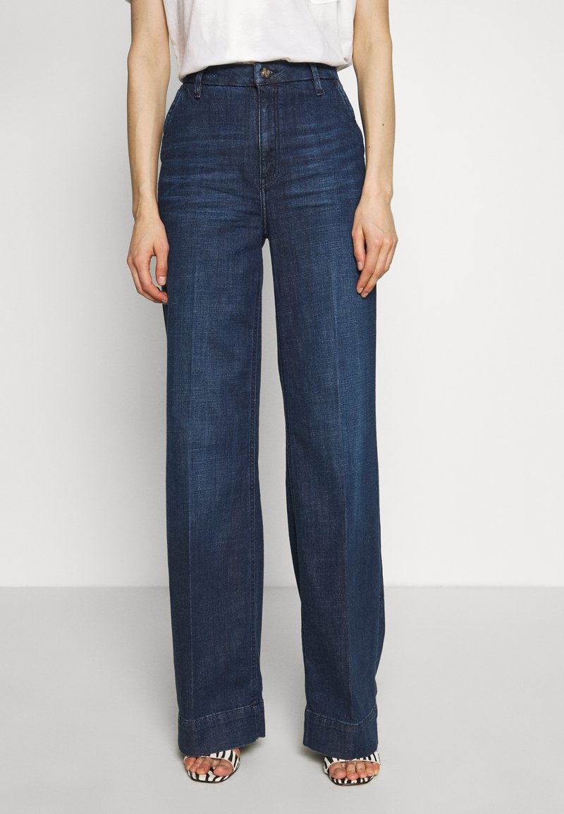 Esprit - WIDE LEG - Relaxed fit jeans - blue dark wash