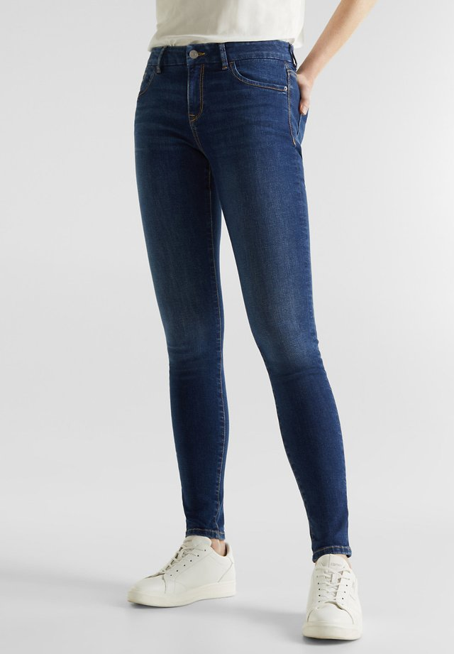 SKINNY-JEANS MIT PASPELTASCHE - Jeans Skinny Fit - blue medium washed