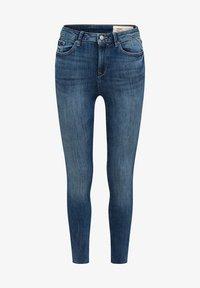 Esprit - KNÖCHELLANGE JEANS MIT OFFENEN SÄUMEN - Jeans Skinny Fit - blue dark washed - 6