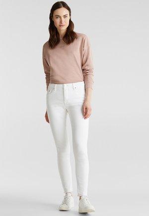 ANKLE-HOSE MIT ORGANIC COTTON - Jean slim - white