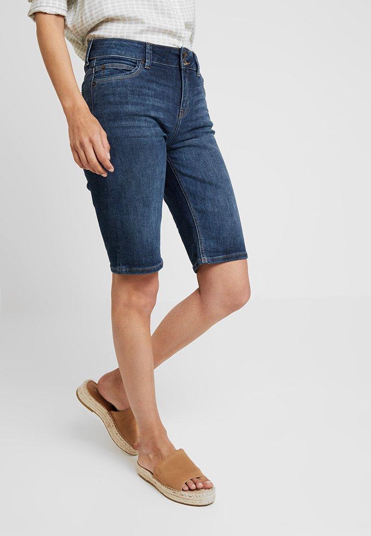 Esprit - MODERN - Denim shorts - blue dark wash