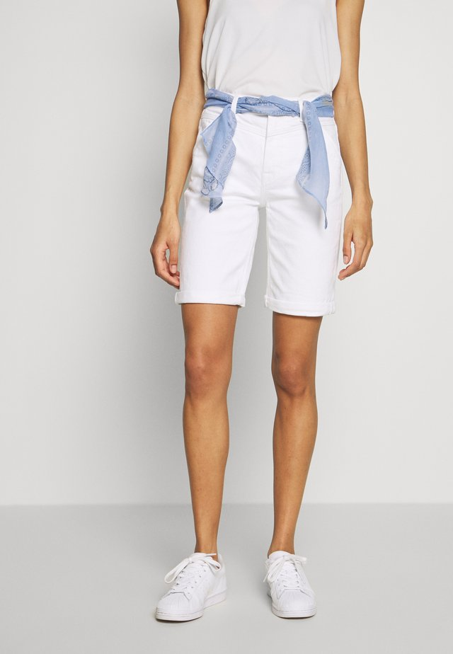 Shorts vaqueros - white