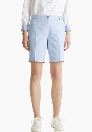 CHAMBRAY-SHORTS AUS 100% BAUMWOLLE - Shorts - light blue