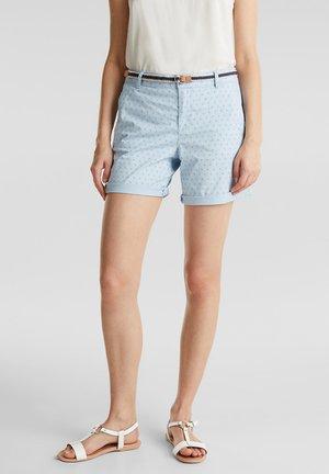 BAUMWOLL-SHORTS MIT LYCRA XTRA LIFE™ - Shorts - light blue