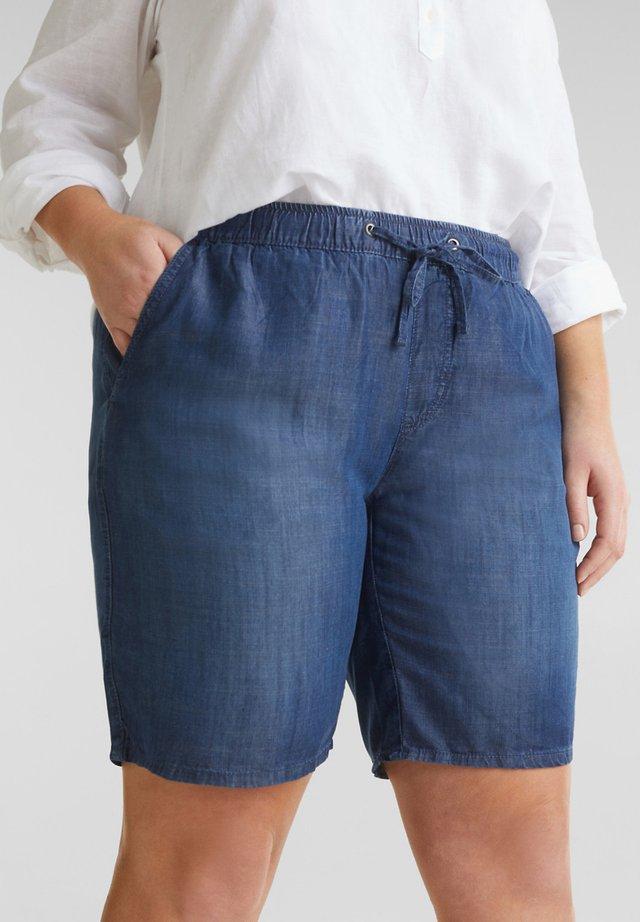 FASHION DENIM SHORTS - Jeansshorts - blue dark washed