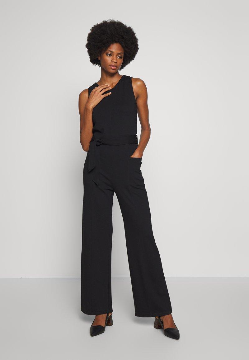 Esprit - OVERALL STITCH - Jumpsuit - black