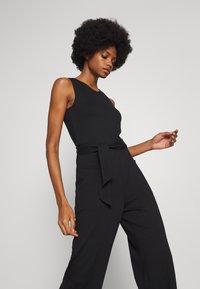 Esprit - OVERALL STITCH - Jumpsuit - black - 3