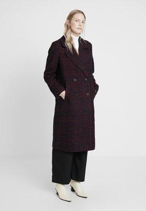 LONG MODERN - Classic coat - dark red