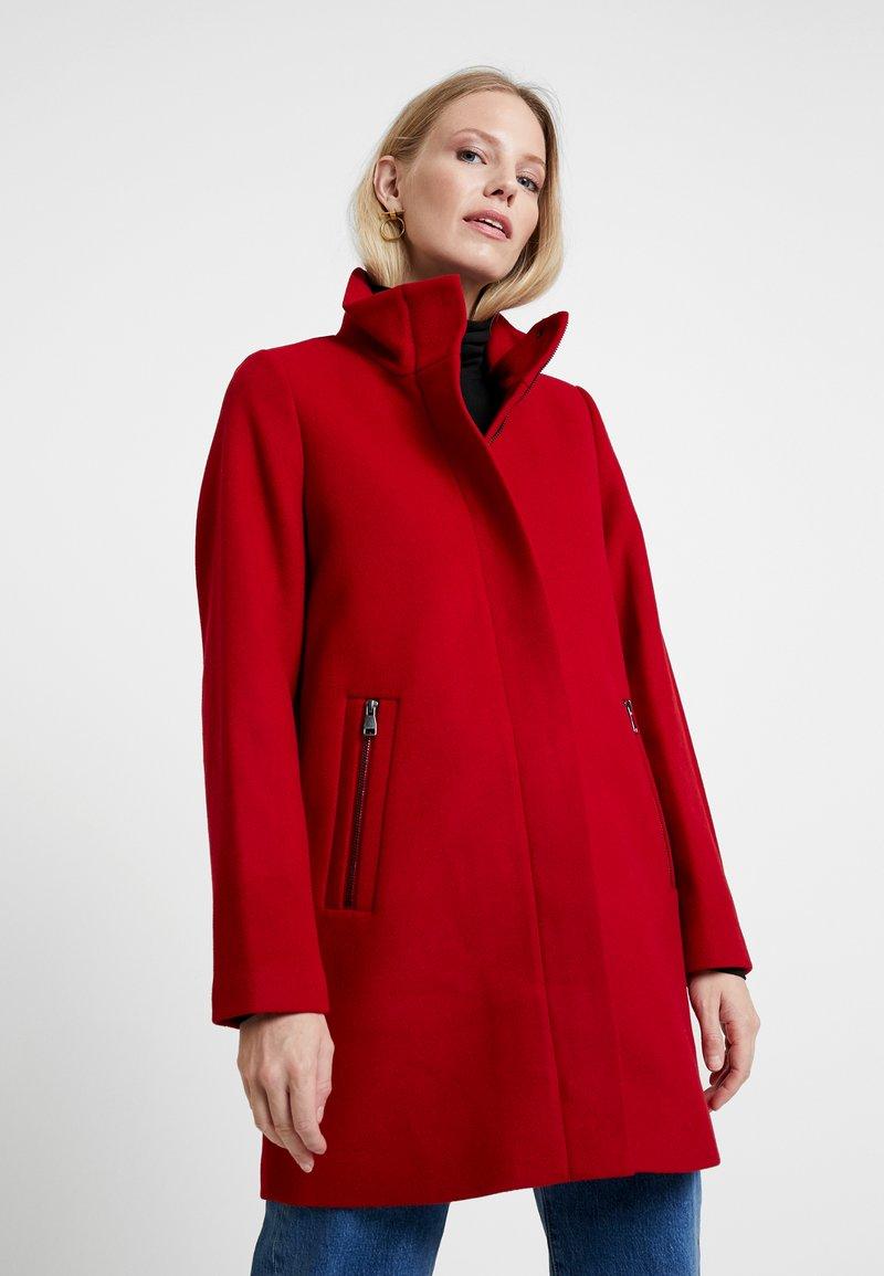 Esprit - COAT - Kort kappa / rock - dark red