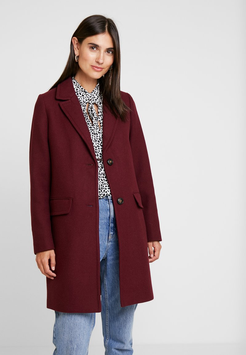 Esprit - NEW BASIC - Manteau court - bordeaux red