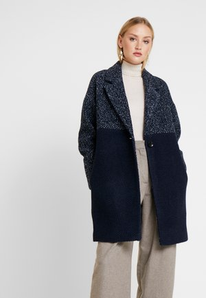 FABRIC MIX COAT - Classic coat - navy