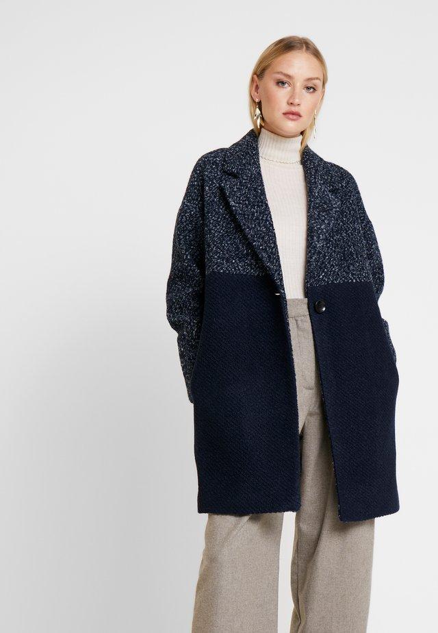 FABRIC MIX COAT - Cappotto classico - navy