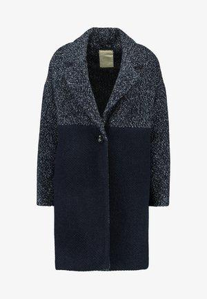 FABRIC MIX COAT - Zimní kabát - navy