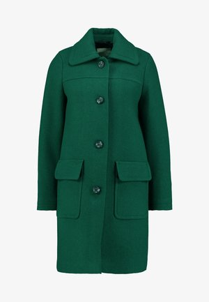 WOOL COAT - Abrigo - bottle green