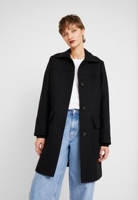 Esprit - WOOL COAT - Mantel - black - 0